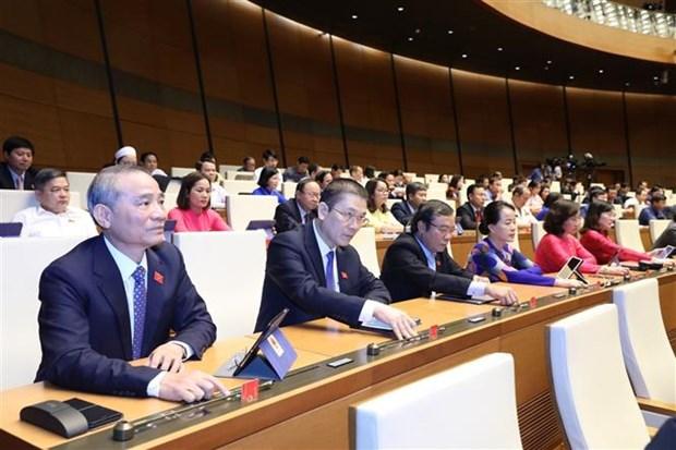 越南第十四届国会第九次会议:越南国会通过成立国家选举委员会的决议 hinh anh 2