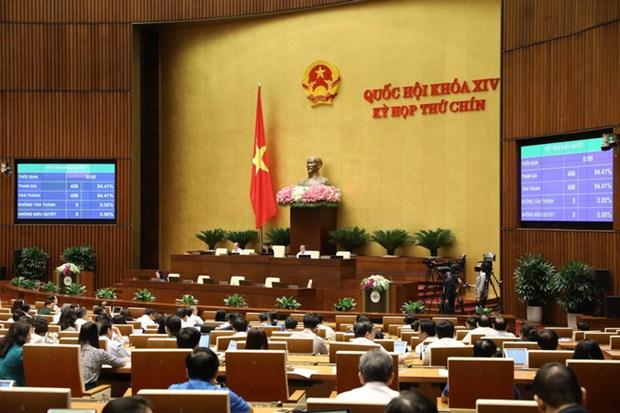 越南第十四届国会第九次会议:越南国会通过成立国家选举委员会的决议 hinh anh 1