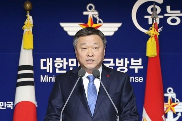 韩国与新加坡举行国防战略对话共商抗疫 hinh anh 1