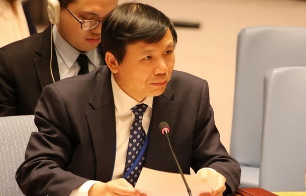 越南出席联合国安理会有关中非局势的辩论会 hinh anh 1