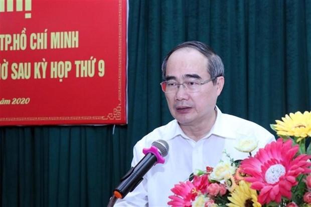 胡志明市市委书记开展接待选民活动 hinh anh 2
