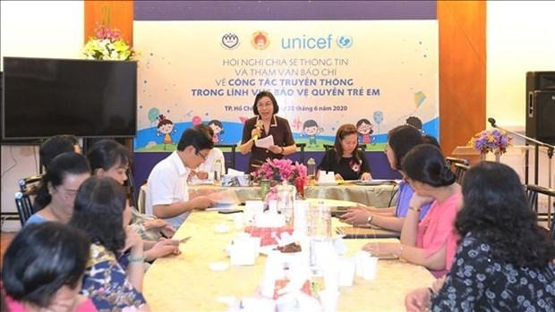 胡志明市在儿童权利保护领域上加强与新闻媒体机构的合作 hinh anh 1
