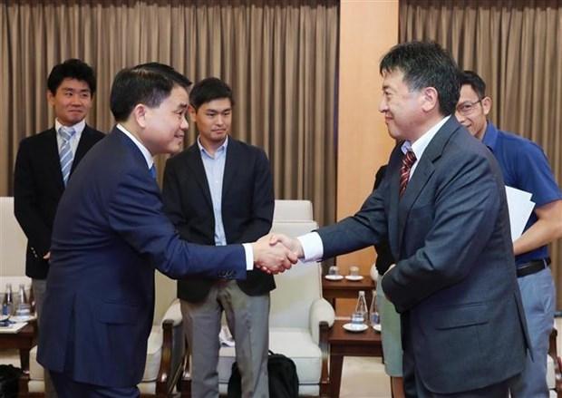 河内与日本国际协力机构加强合作 保障各项目施工进度 hinh anh 1