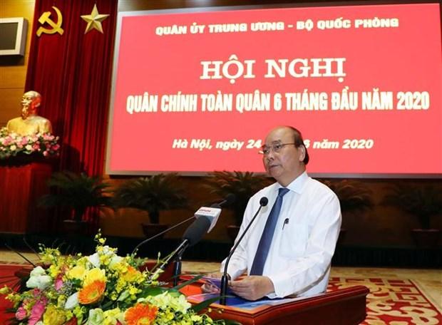 越南政府总理阮春福出席2020年上半年全军军政会议 hinh anh 3