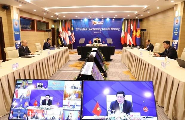 2020东盟轮值主席年:第26届东盟协调委员会会议通过6项报告 hinh anh 1