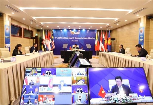 ASEAN 2020:东盟各成员国代表商讨重要合作内容 hinh anh 2