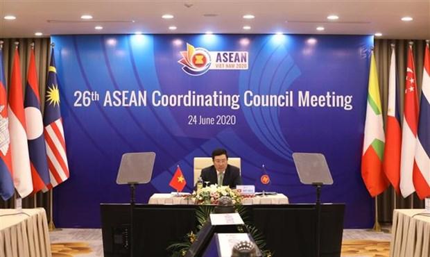 2020东盟轮值主席年:第26届东盟协调委员会会议通过6项报告 hinh anh 2