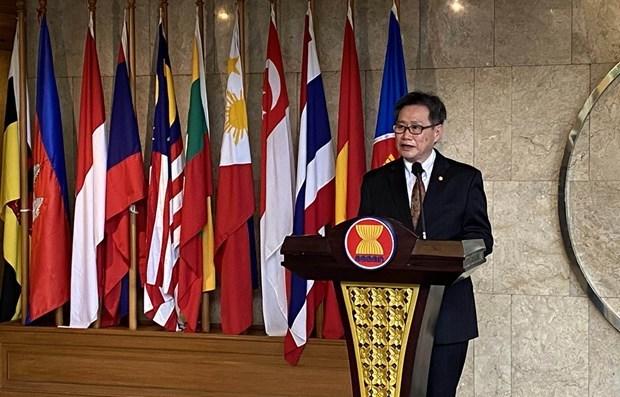 2020东盟轮值主席国年:东盟秘书长林玉辉高度评价越南的领导作用 hinh anh 1