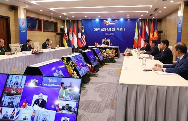 2020东盟轮值主席年:越南政府总理阮春福主持第36届东盟峰会开幕式并发表重要讲话 hinh anh 2
