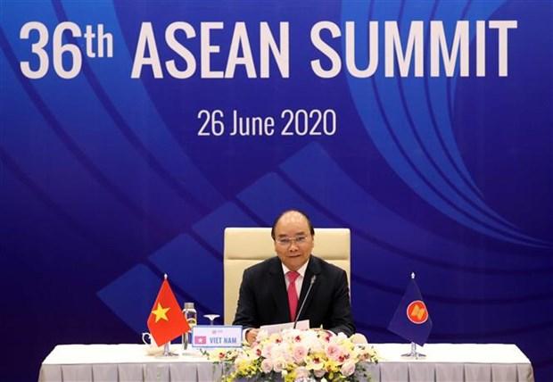 越南政府总理阮春福主持召开第36届东盟峰会全体会议 hinh anh 2