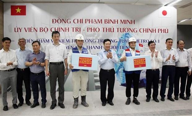 越南政府副总理范平明考察滨城--仙泉地铁线施工项目 hinh anh 2