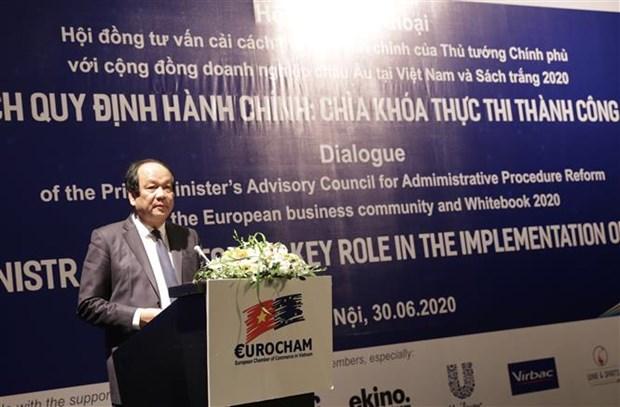EVFTA助力促进行政改革中的积极进步 hinh anh 2