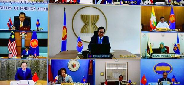 2020东盟轮值主席国:第26次东盟与中国高官磋商以视频方式举行 hinh anh 2