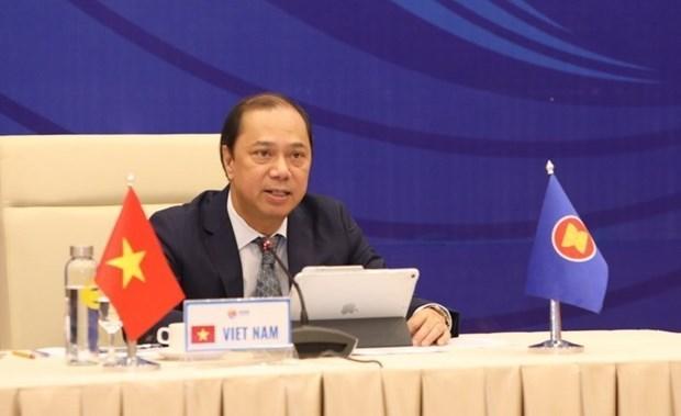 2020东盟轮值主席国:第26次东盟与中国高官磋商以视频方式举行 hinh anh 1