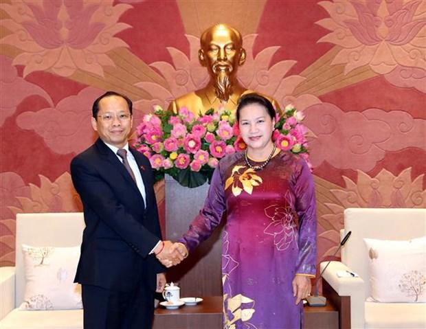 越南国会主席阮氏金银会见日本和柬埔寨驻越大使 hinh anh 2