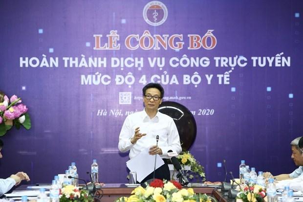 越南卫生部提前5年全部完成四级在线公共服务平台建设 hinh anh 2