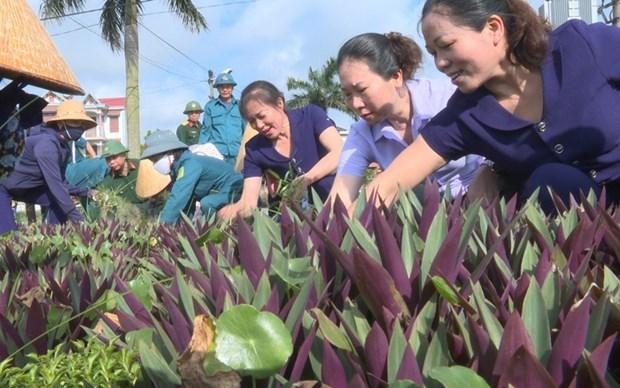 北宁省妇女们携手保护环境 争创美好社区 hinh anh 1