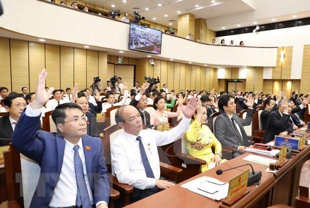 河内市人民议会通过多项经济社会发展决议 hinh anh 1