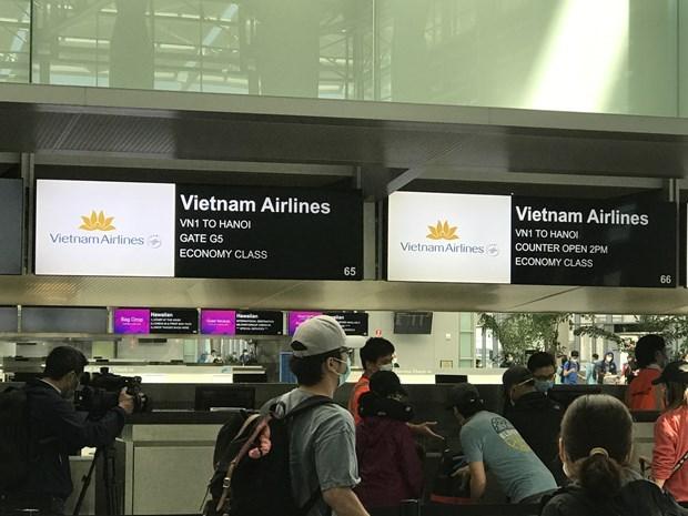 新冠肺炎疫情:把在美国的346名越南公民接回国 hinh anh 1