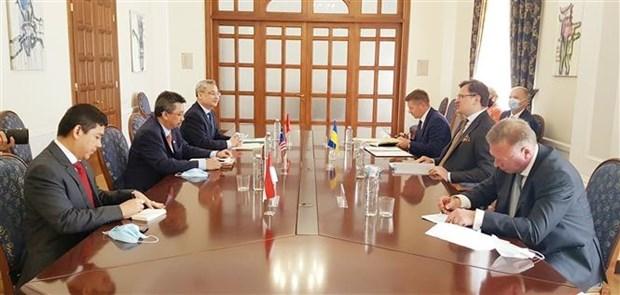东盟与乌克兰加强多个领域的合作 hinh anh 1