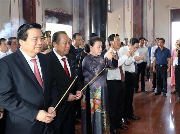 越南国会主席阮氏金银出席阮友寿同志诞辰110周年纪念典礼 hinh anh 2