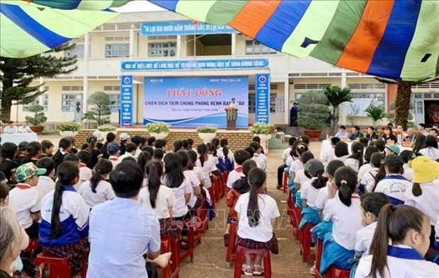 越南西原地区启动白喉疫苗接种运动 hinh anh 1