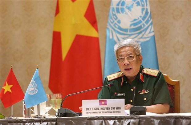 越南国防部副部长阮志咏与联合国副秘书长哈雷通电话 hinh anh 2
