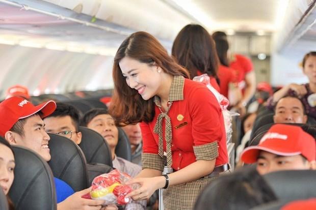 泰国越捷航空的13条国内航线将出售50泰铢起的特价机票 hinh anh 1