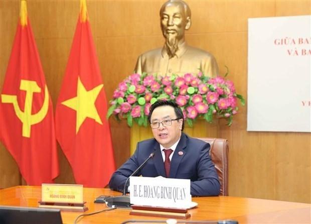 越共中央对外部部长同古巴共产党中央对外部代部长举行视频会谈 hinh anh 1