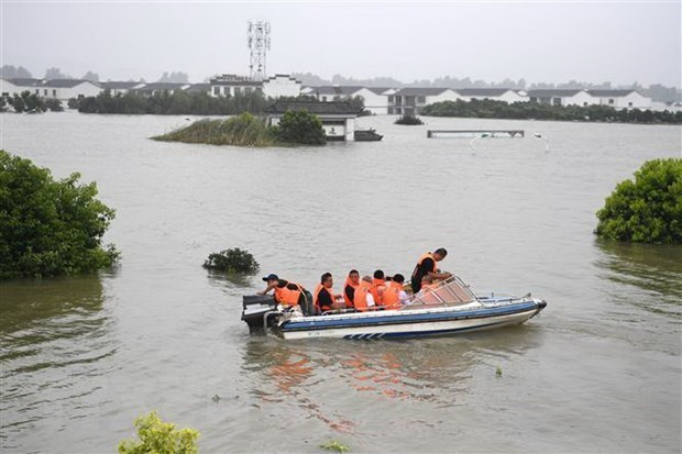 陈国旺就中国严重洪涝灾害致电表示慰问 hinh anh 1