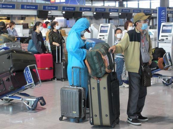 新冠肺炎疫情:350名在日越南公民安全回国 hinh anh 1
