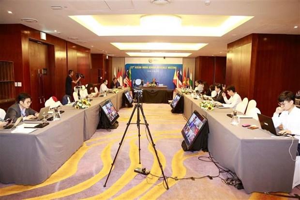 第22届东盟—印度高级官员会议以视频方式召开 hinh anh 2