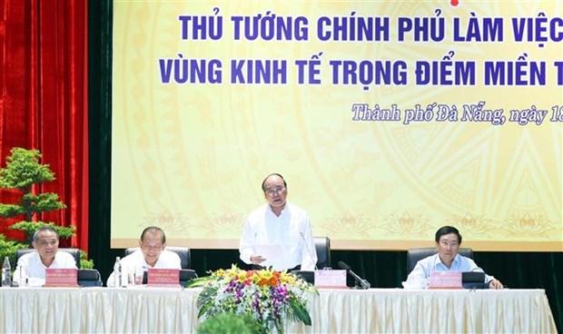 阮春福总理:中部西原地区任何省市不能出现负增长 确保公共投资项目资金到位率达近100% hinh anh 2