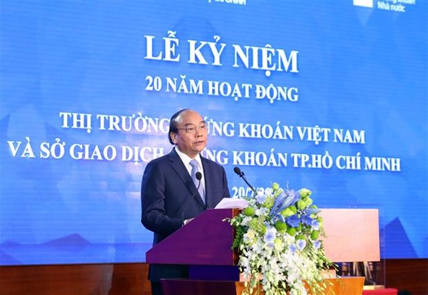 越南政府总理出席越南证券市场成立20周年纪念典礼 hinh anh 2