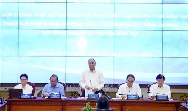 阮春福:胡志明市应注重加快公共投资到位进度 成功实施2020年经济社会发展计划 hinh anh 1