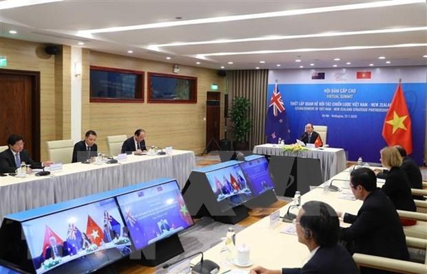 越南与新西兰关于建立战略伙伴关系的联合声明 hinh anh 1