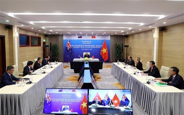 越南总理与新西兰总理举行视频会谈 正式将越新关系提升为战略伙伴关系 hinh anh 1