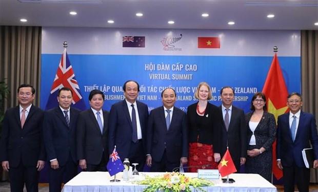 越南总理与新西兰总理举行视频会谈 正式将越新关系提升为战略伙伴关系 hinh anh 2