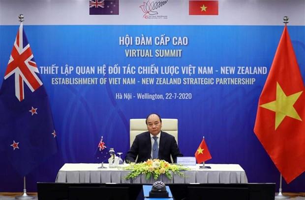 越南与新西兰关于建立战略伙伴关系的联合声明 hinh anh 2