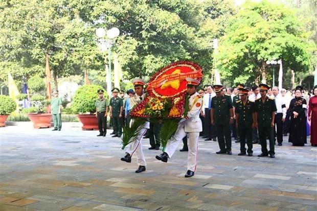 西宁省为149名越南志愿军隆重举行追悼会和安葬仪式 hinh anh 2
