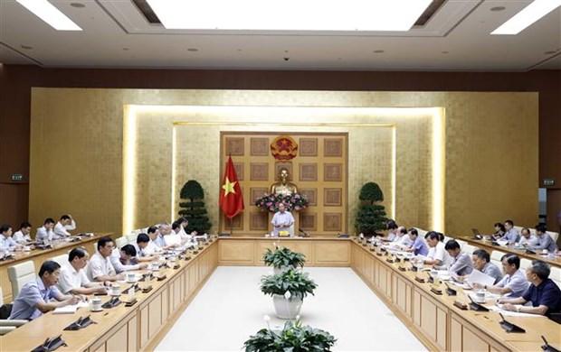 阮春福总理主持召开有关信贷体系结构重组的会议 hinh anh 2