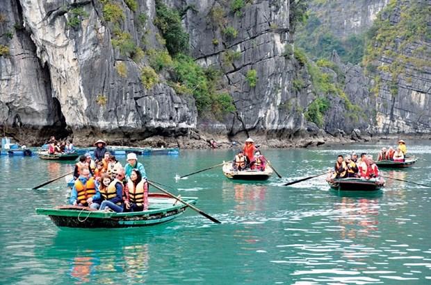 今年前7月越南接待国际游客人数同比下降61.6% hinh anh 1