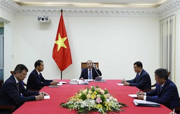 越南政府总理与欧盟委员会主席通电话 hinh anh 2