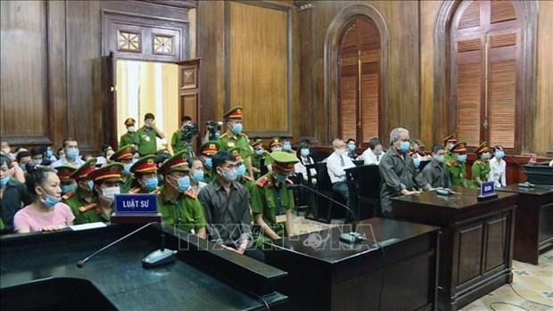 胡志明市人民法院对8人聚众扰乱安全罪一案公开宣判 hinh anh 1