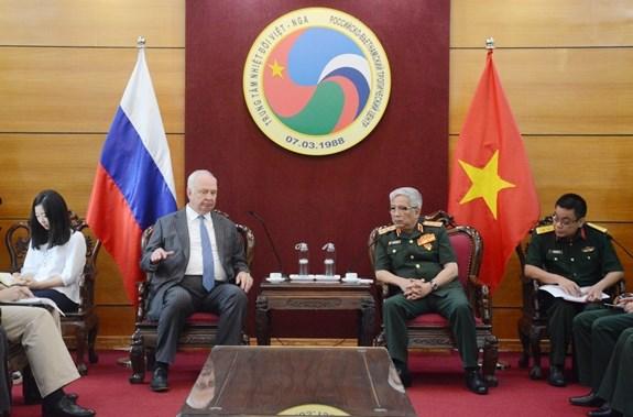 越南国防部副部长阮志咏会见俄罗斯驻越大使 hinh anh 1