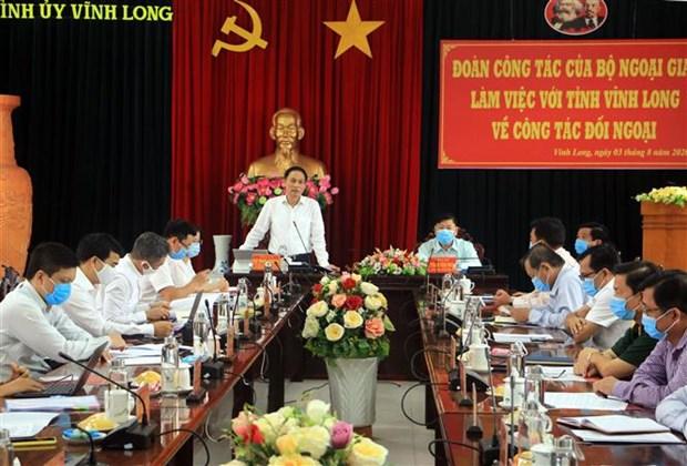 外交部副部长黎怀忠:愿为永隆省寻找潜在的外国合作伙伴提供支持 hinh anh 1