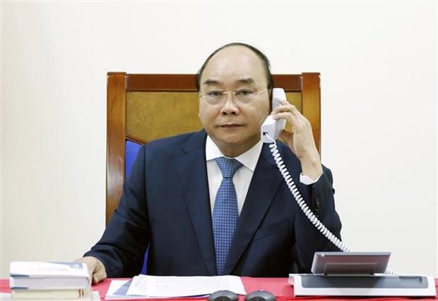 越南政府总理阮春福与日本首相安倍晋三通电话 hinh anh 2