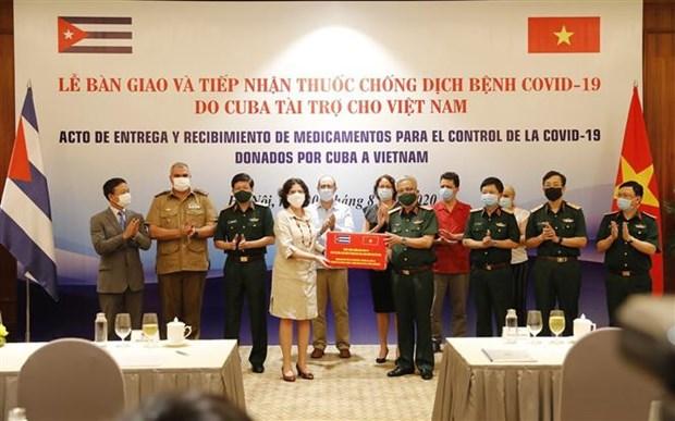 越南接受由古巴援助的防疫药品 hinh anh 2