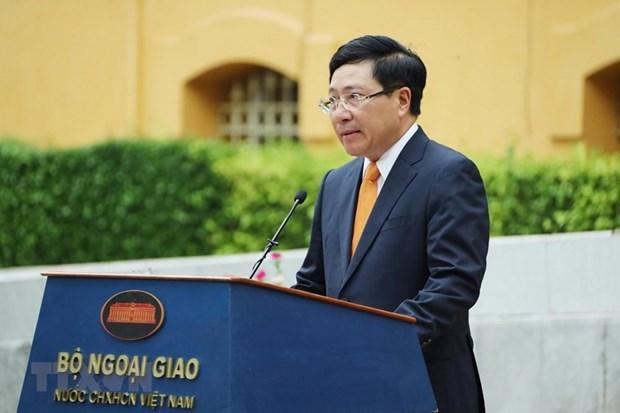 越南外交部举行东盟会旗升旗仪式 庆祝东盟成立53周年 hinh anh 2