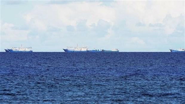 美国务卿与菲律宾外长就东海问题进行讨论 hinh anh 1